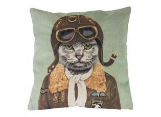 Gobelínový polštář Kočka pilot - 45*15*45cm