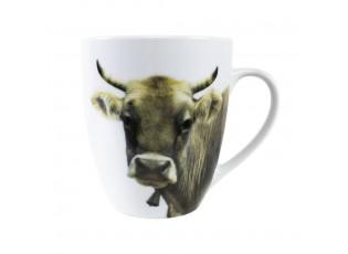 Porcelánový hrnek s motivem švýcarské krávy  - 11,5*8,5*10cm