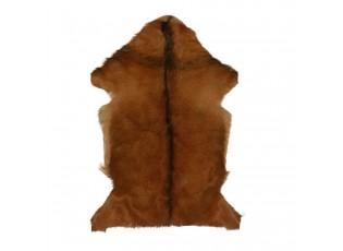 Hnědá dekorativní kožešina z kozí kůže - 60*90*2cm