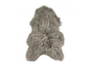 Tmavě šedá blond kůže z Islandské ovce Iceland blond - 100*70*5cm