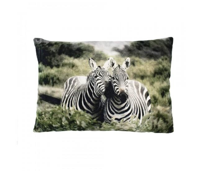 Sametový polštář se zebrami - 40*60cm