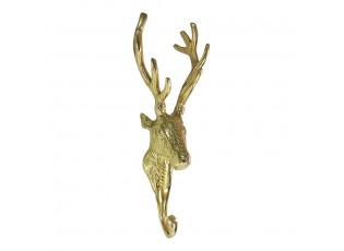 Zlatý kovový háček Jelen - 8.5*7*25cm