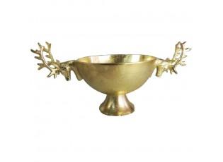 Zlatá kovová miska hlava Jelena - 49*30cm