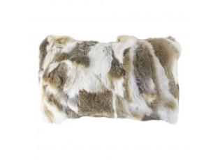 Polštář z králičí kůže Rabbi hnědá mix  - 50*30*10cm