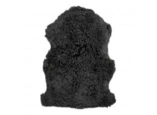 Černá kudrnatá chlupatá dekorativní kůže z ovce - 90*65*2cm