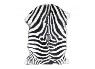 Bílo černá dekorativní kožešina Zebra z kozí kůže - 60*90*2cm