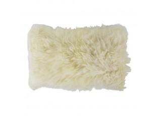 Krémový chlupatý polštář z ovčí kůže 30x50cm - 50*30*10cm