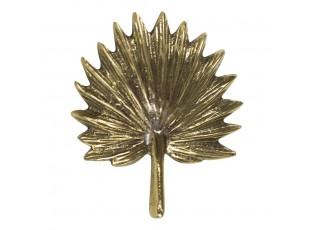 Zlatá kovová úchytka v tvaru listu - 6,5*5,5*4,5cm