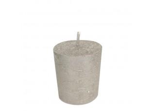 Metalická svíčka Champagne - Ø 7*10cm