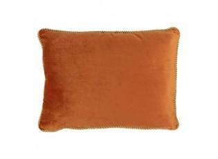 Sametový zlatě oranžový polštář Golly - 35*45*10cm