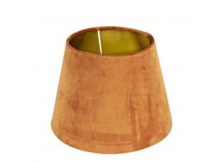Sametové oranžové stínidlo se zlatým vnitřkem - Ø 30*21cm