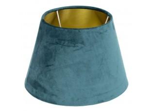 Sametové petrolejové stínidlo se zlatým vnitřkem Petrol - Ø46*25cm/E27