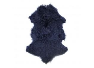 Modrá ovčí kůže kudrnatý dlouhý chlup Navy Curly - 95*55*2cm