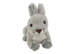Plyšová hračka šedý králík ležící  - 21*13*15cm