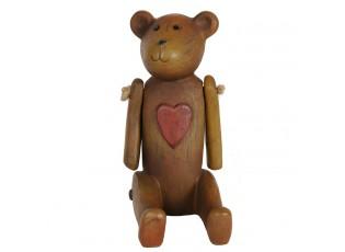 Dekorace - medvídek se srdíčkem - 11 * 7 * 13 cm