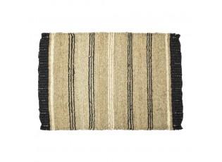 Pruhovaný přírodně-černý koberec z mořské trávy - 60*90*0,3cm