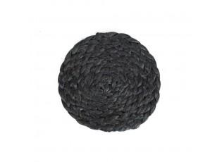 Černé jutové podtácky Jutten - Ø10*0,2cm