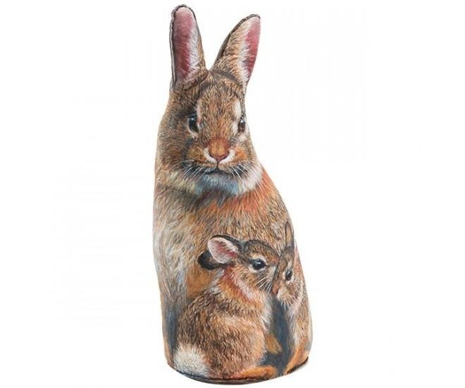 Dveřní zarážka 3D králík Rabbi - 43*25*13cm