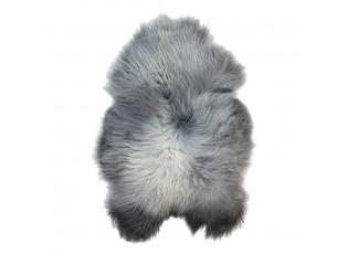 Šedá stříbrná kůže s černými konečky z Islandské ovce Iceland grey - 115*75*5cm