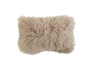 Polštář ovčí dlouhý vlas béžový - 50*30*10cm