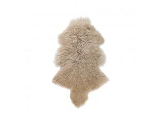 Béžová ovčí kůže kudrnatý dlouhý chlup - 95*55*2cm