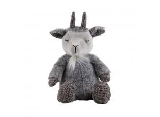 Plyšová hračka šedý spící kozel - 33cm