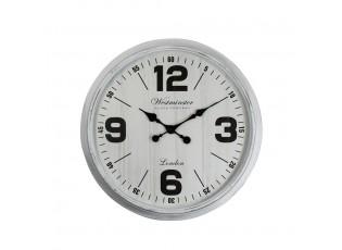 Bílé nástěnné hodiny Westminster - 76*76*5,7cm