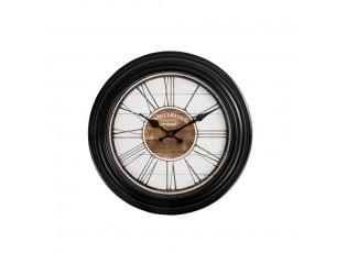 Černé nástěnné hodiny Amsterdam - Ø 30*4,5cm