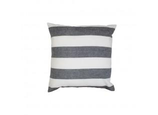 Černo-bílý bavlněný pruhovaný polštář Chambray  - 40*40*10cm