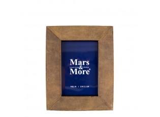 Hnědý kožený stojací rámeček na fotografie Gonfler-  10*15cm