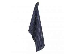 Tmavě modrá kuchyňská utěrka s hvězdičkami - 50*70 cm