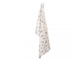 Kuchyňská utěrka z bavlny s potiskem veverek a žaludů - 50*70 cm