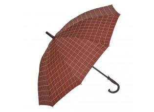 Cihlově barevný kostičkovaný deštník - 60 cm