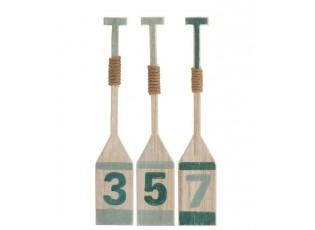 Sada 3ks dřevěných dekoračních pádel - 12*3*65 cm
