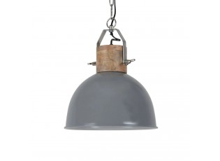 Šedé závěsné kovové retro světlo Fabriano dark grey - Ø 30*35 cm