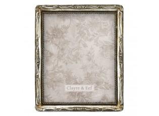 Stříbrný fotorámeček se zdobením - 24*3*29 cm / 20*25 cm