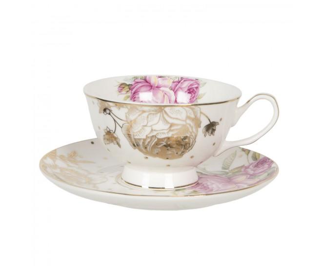 Porcelánový šálek s podšálkem Roses garden - 0,2L