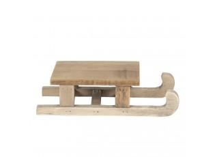 Dekorace dřevěné sáňky - 25*12*6 cm