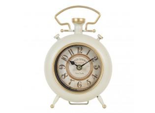 Krémové vintage hodiny se zlatým zdobením Grand - 16*6*24 cm / 1*AA