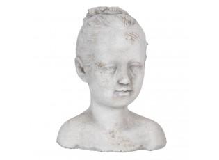 Dekorační socha hlava dítěte - 16*14*20 cm