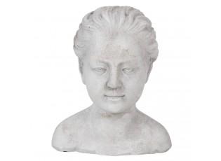 Dekorační socha hlava ženy - 17*16*20 cm