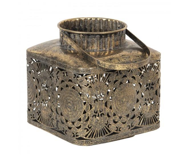 Vintage kovová lucerna s patinou Alvery - Ø 18*33 cm