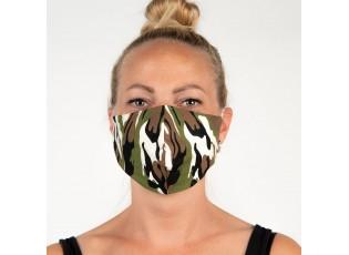 Maskáčová bavlněná rouška na obličej