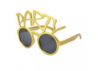 Zlaté sluneční brýle Party