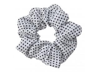 Bílo černá puntíkatá gumička