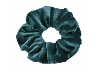 Petrolejově modrá sametová gumička