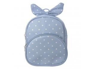 Dětský modrý batůžek s puntíky  a mašlí - 20*10*24 cm
