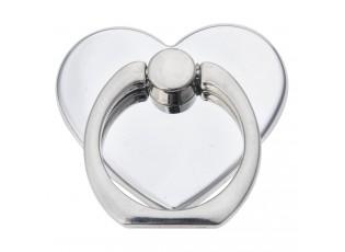 Prsten na telefon stříbrné srdce