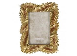 Nástěnný fotorámeček se zlatými listy - 17*1*22 cm / 10*15 cm