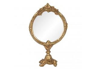 Stolní zrcadlo ve zlatém antik rámu Mireio - 12*6*19 cm